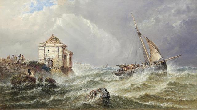 Arthur Joseph Meadows: A squally marine scene,