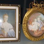 Two decorative 20th Century Continental portrait miniatures