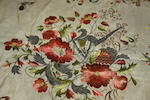 An Edwardian embroidered silk panel