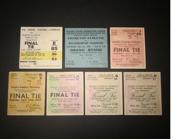 A collection of football tickets