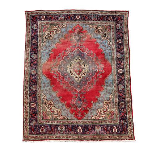 A Tabriz carpet 380cm x 290cm