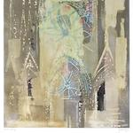 John Piper C.H. (British, 1903-1992) Rheims Cathedral The rare aquatint with hand-colouring in yellow and ochre gouache by the artist, 1972, on TH Saunders, signed and inscribed 'artist's proof' in pencil, one of only six hand-coloured proofs aside from the edition of 50, printed at Burleighfield House, London, published by Pallas Gallery, London, with margins, 840 x 661mm (33 1/8 x 26in)(PL)
