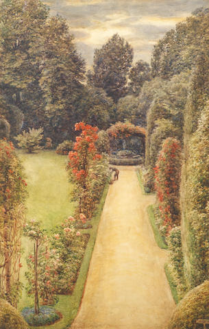 Sir Edward John Poynter, PRA RWS (1836-1919) A country garden
