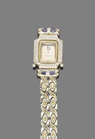 A gem-set wristwatch