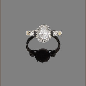 A  19th century diamond single-stone ring