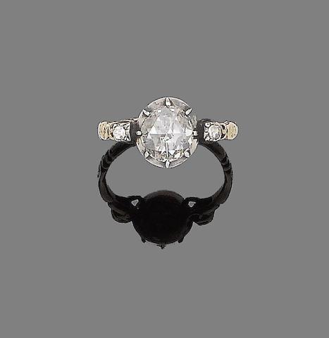A  19th century diamond single-stone ring