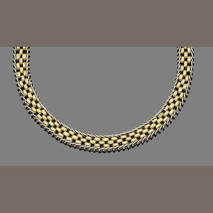 A collar necklace