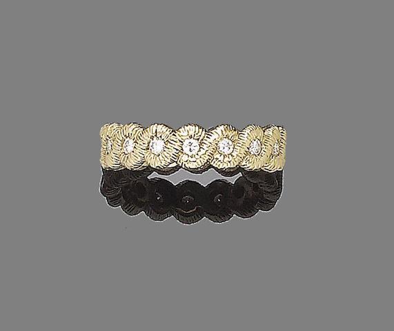 A diamond-set ring