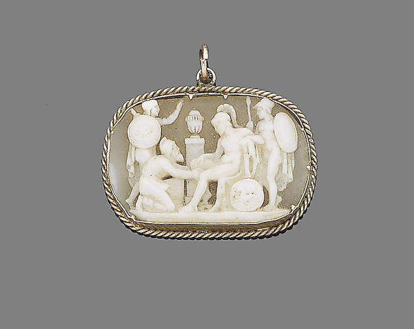 A 19th century shell cameo pendant