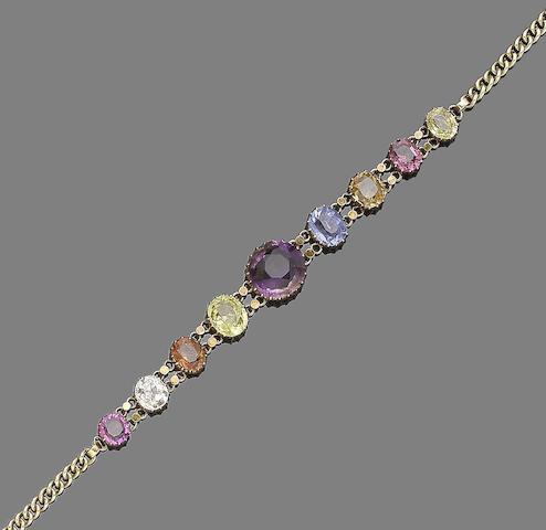 A gem-set bracelet