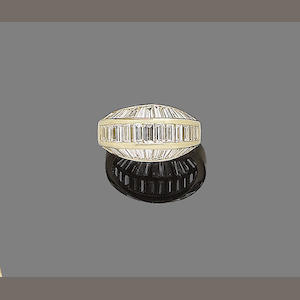 A diamond half-hoop ring, by Cartier