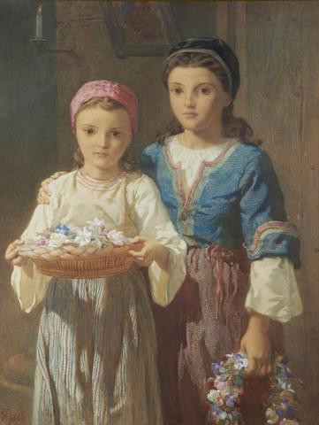 Frederick Goodall - Flower Girls