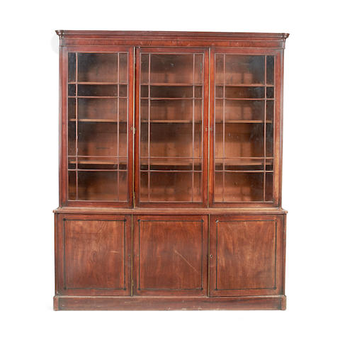 A late George III mahogany library bookcase