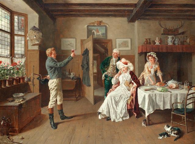 Talbot Hughes, ROI, PS (British, 1869-1942) The toast