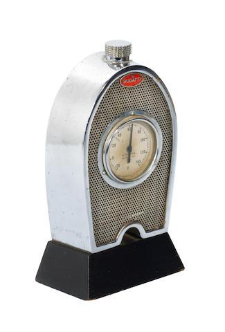 A Bugatti Radiator 'Rototherm' deskpiece temperature gauge, circa 1932,