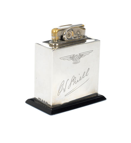 SS Jaguar desk lighter