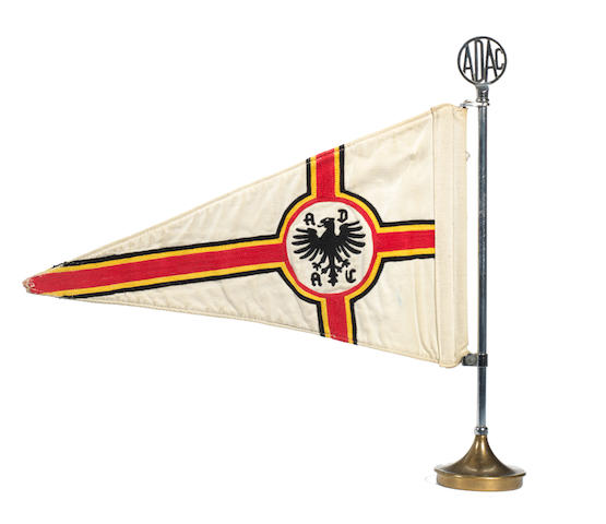 An ADAC car pennant, German, 1920s,