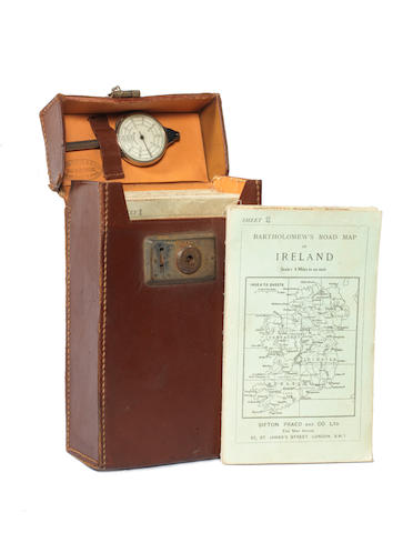 A leather-cased set of Bartholomew's road maps for Ireland, circa 1920,