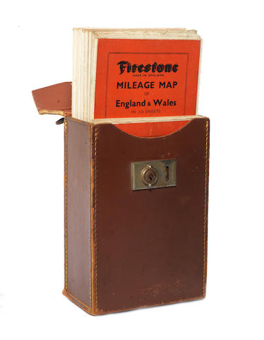 A cased set of Firestone Mileage maps for England & Wales, circa 1910,