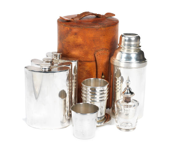 Dunhill six person cocktail set,