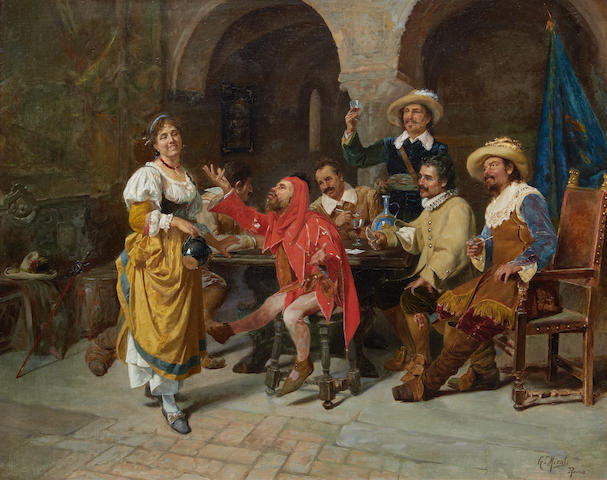 Giuseppe Micali (Italian, born 1866) In the tavern