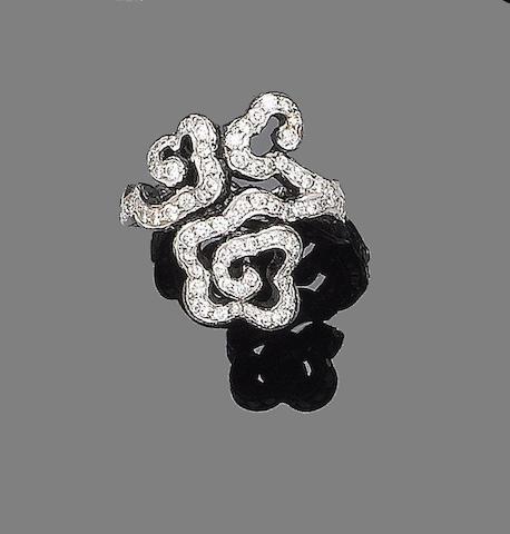 A diamond-set ring, by Carnet