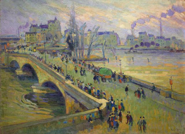 Robert Antoine Pinchon (French, 1886-1943) Le pont Corneille, Rouen