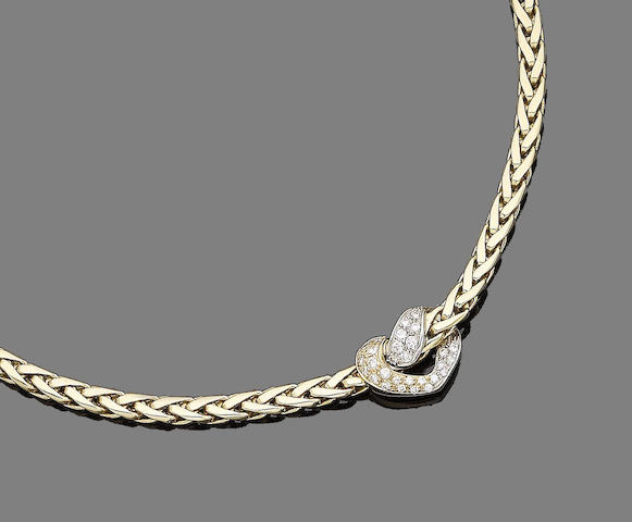 A diamond collar necklace