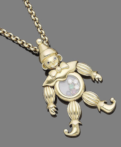A gem-set clown pendant necklace, by Chopard