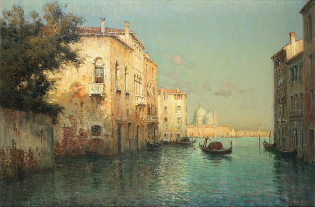 Marc Aldine (French, 1870-1956) Evening light, Venice