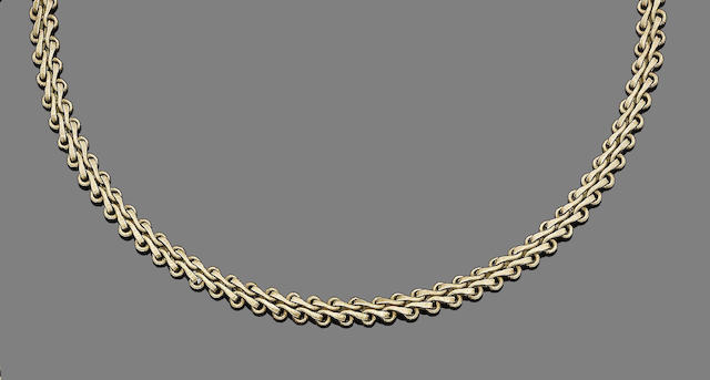A fancy-link necklace, by Buccellati,