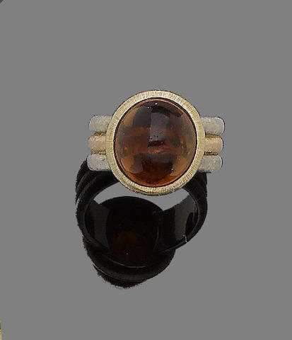A citrine ring, by Buccellati