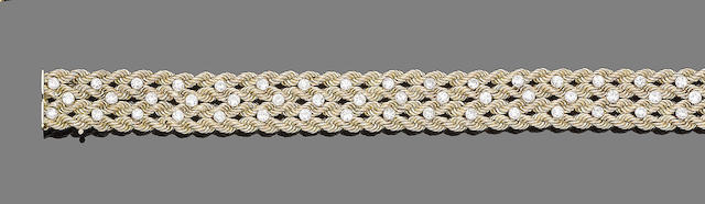 A diamond-set bracelet, by Cartier
