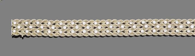 A diamond-set bracelet, by Cartier
