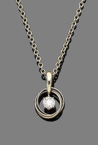 A diamond 'Trinity' pendant, by Cartier