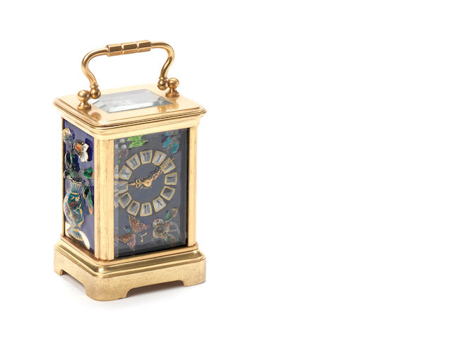 A late 19th century French Aesthetic movement miniature timepiece