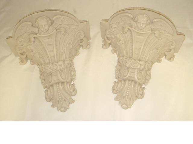 A pair of Copeland parian wall brackets Circa 1900
