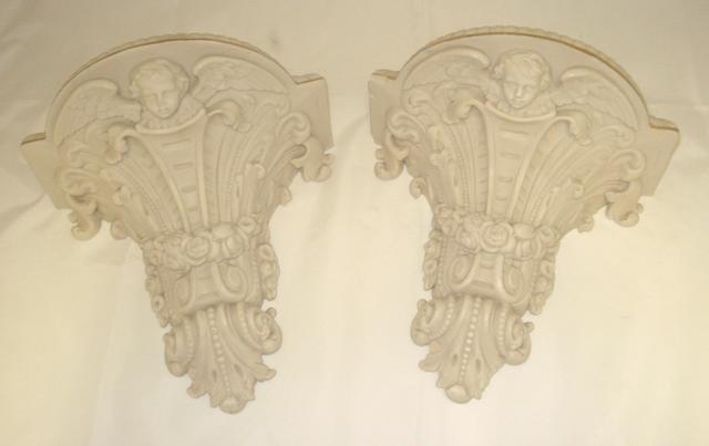 A pair of Copeland parian wall brackets Circa 1900