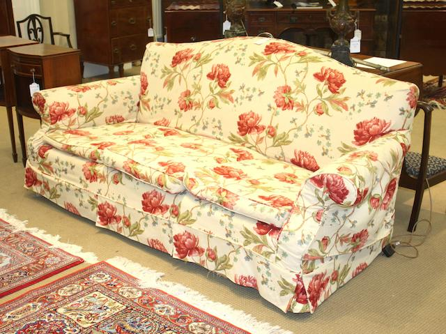 A mid 20th century three seat sofa