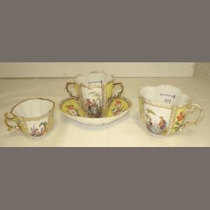A small group of Dresden porcelain Circa 1900