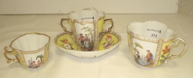 A small group of Dresden porcelain Circa 1900