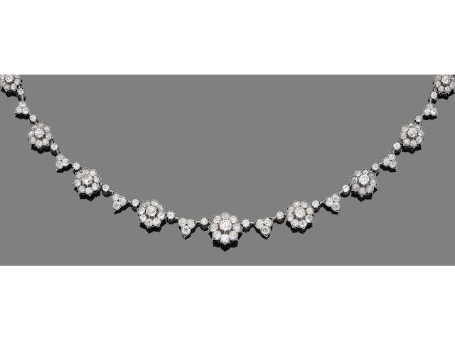 A late 19th century diamond necklace