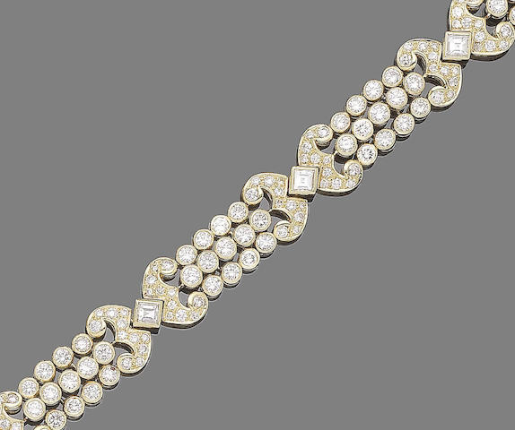 A diamond bracelet, by David Morris