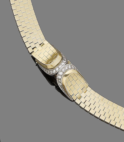 A diamond-set wristwatch, by Gübelin