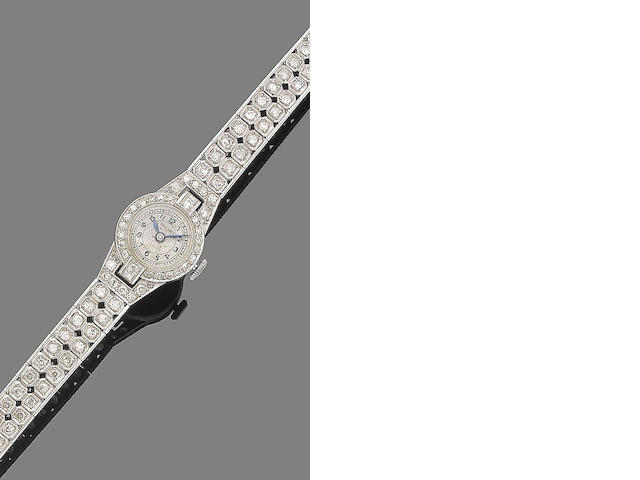 A diamond wristwatch