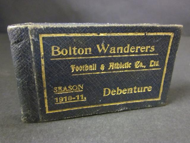 Bolton Wanderers 1910/11 season ticket number 1