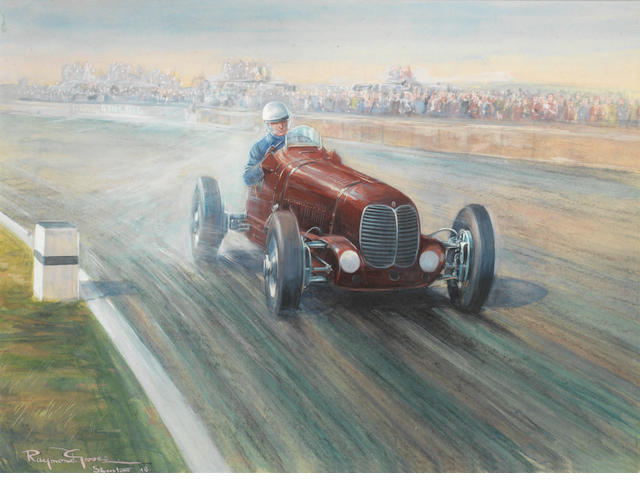 Raymond Groves; 'First British Grand Prix Silverstone Oct 2nd 1948',