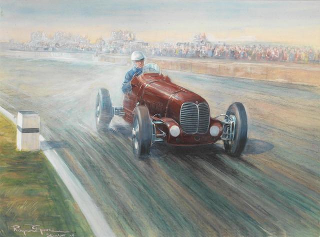 Raymond Groves; 'First British Grand Prix Silverstone Oct 2nd 1948',