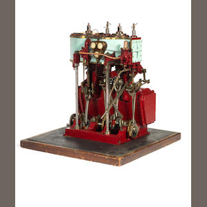 A working scale model of a Hedley & Boyd compound steam engine.
