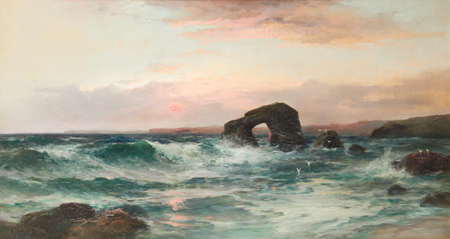 George Henry Jenkins (British, 1843-1914) Thurlestone Rock